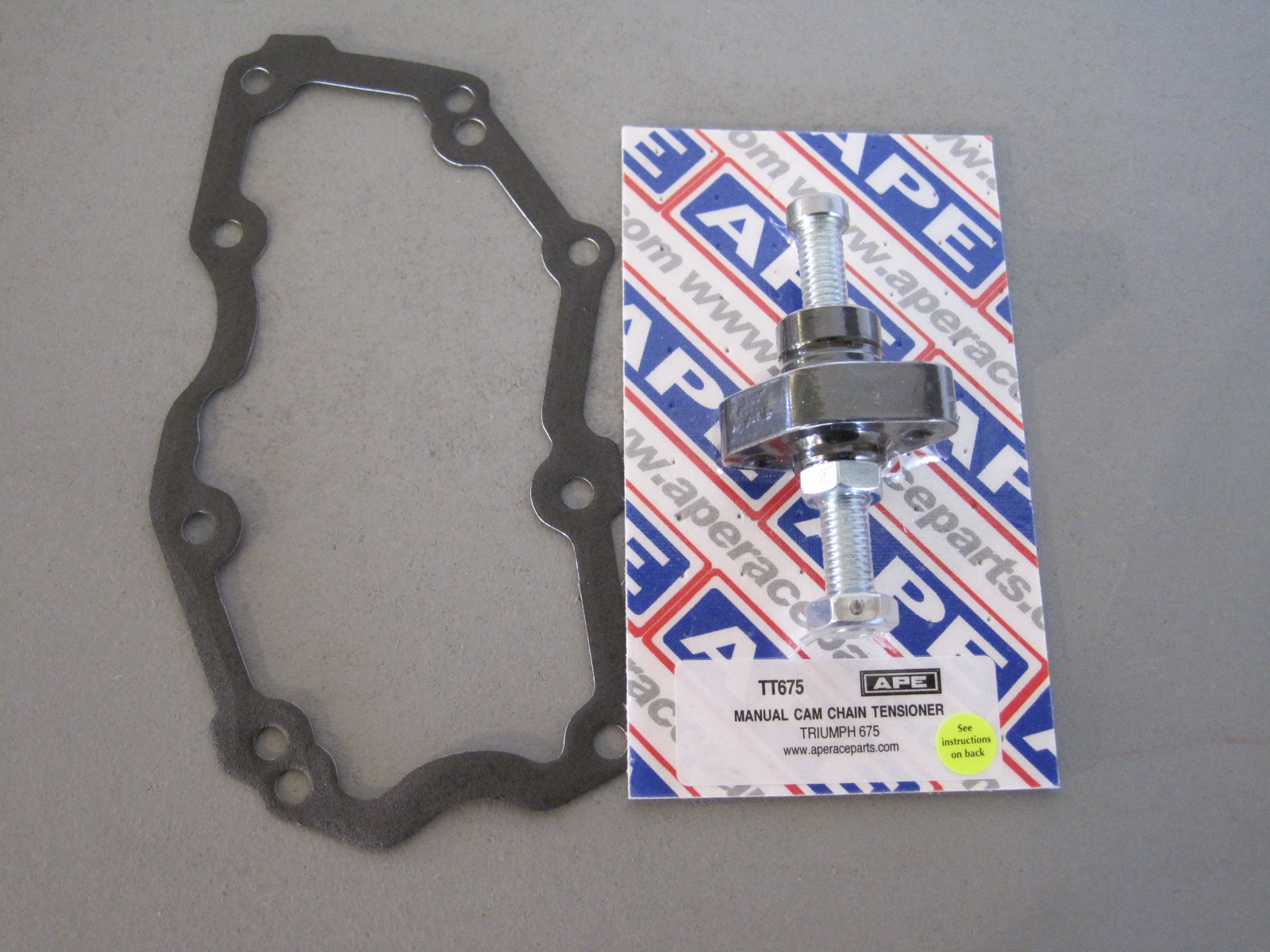 APE TT675-09Cam Chain Tensioner + Gasket late Daytona and Street