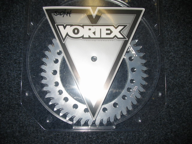 Vortex 525 aluminum rear sprocket